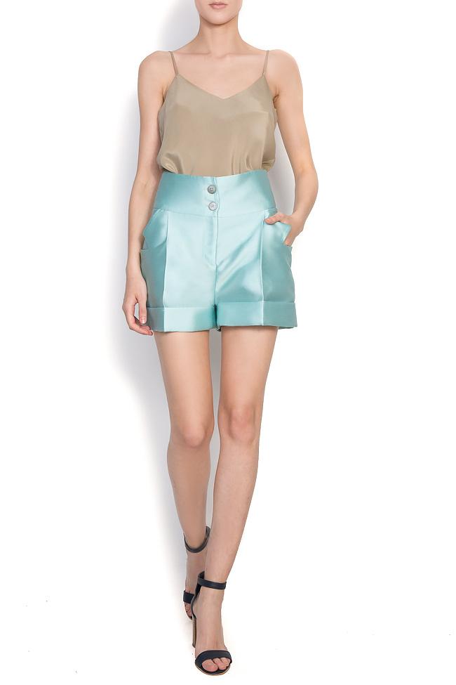 Pantaloni din amestec de bumbac si matase Toscana Florentina Giol imagine 0