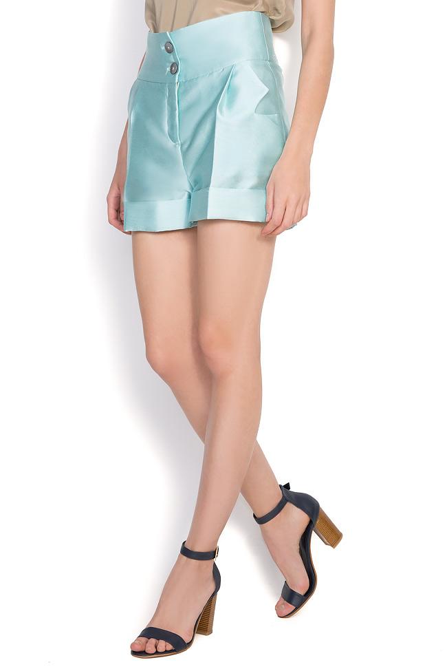 Pantaloni din amestec de bumbac si matase Toscana Florentina Giol imagine 1