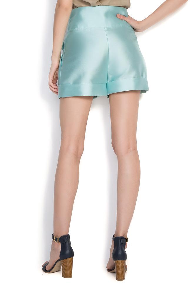 Pantaloni din amestec de bumbac si matase Toscana Florentina Giol imagine 2
