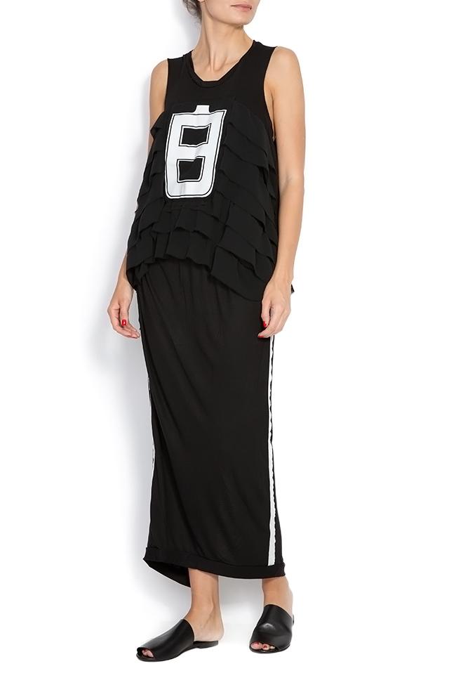 15ee18c9dd6 Sleeveless Black No.8 ruffled stretch-jersey dress Studio Cabal image 0