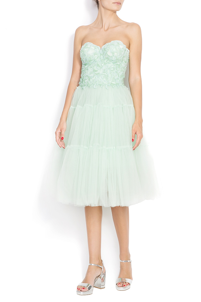 Sequin embellished tulle dress BETTY M Marquise image 0