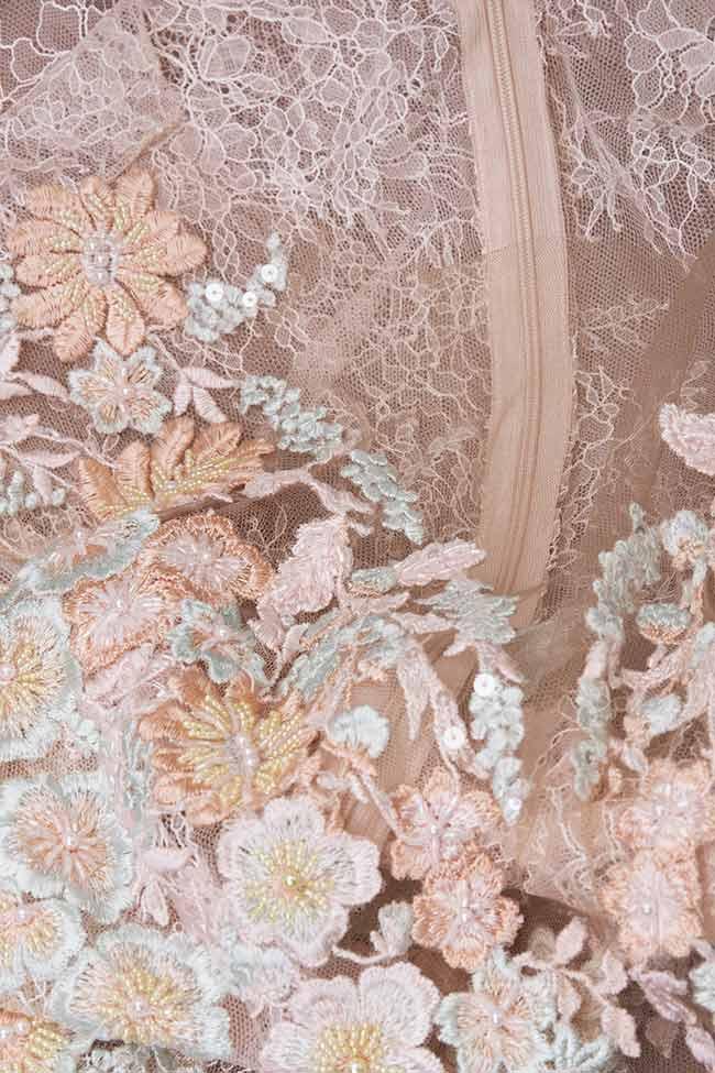 Rochie mini din organza si dantela CALLY M Marquise imagine 4