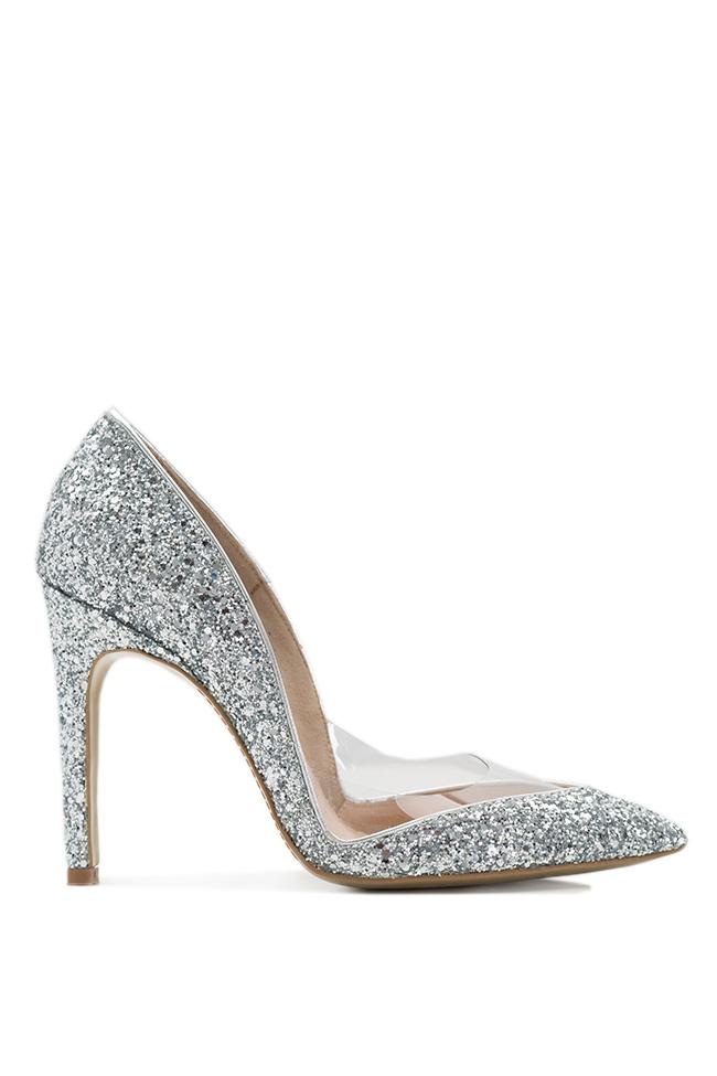 Pantofi din piele cu glitter Mihai Albu imagine 0