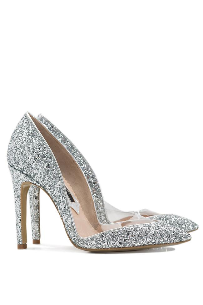 Pantofi din piele cu glitter Mihai Albu imagine 1