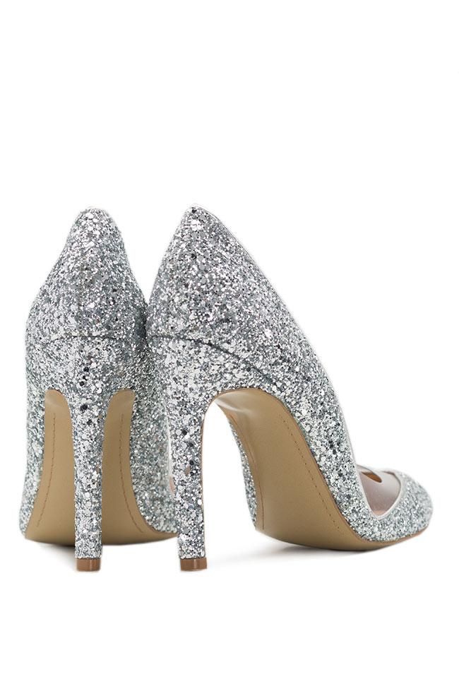 Pantofi din piele cu glitter Mihai Albu imagine 2