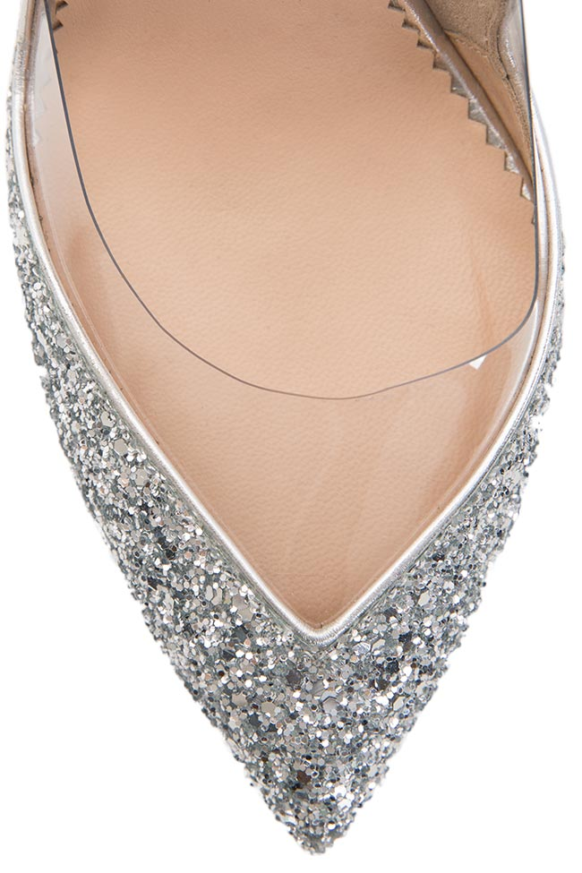 Pantofi din piele cu glitter Mihai Albu imagine 3