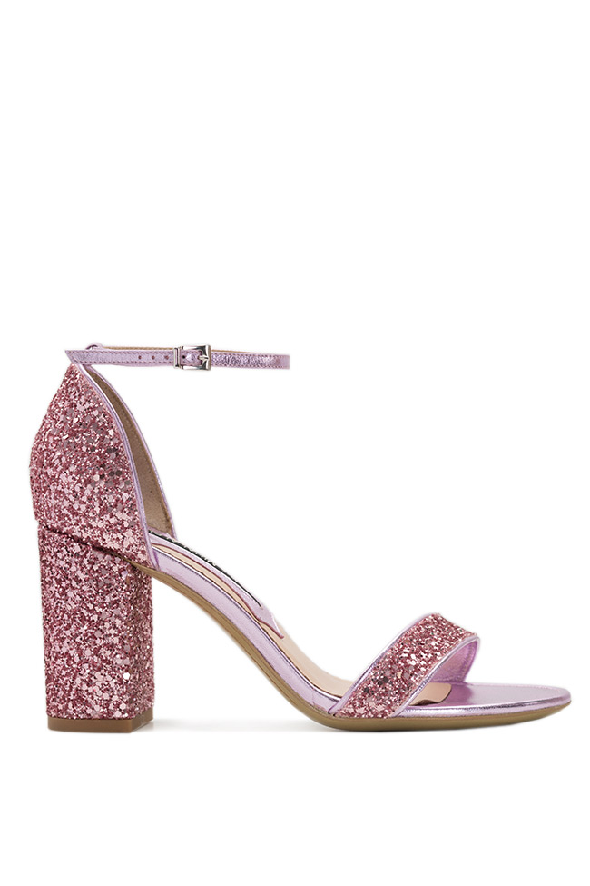 Glittered leather sandals Mihai Albu image 0