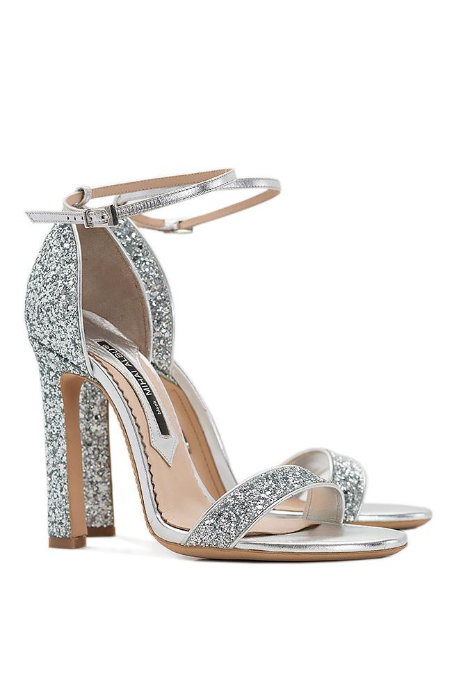 Glittered leather sandals Mihai Albu image 1