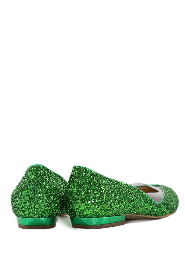 Balerini din piele cu glitter Mihai Albu imagine 2