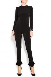 Atelier Jaisse Cotton-blend jumpsuit with frills