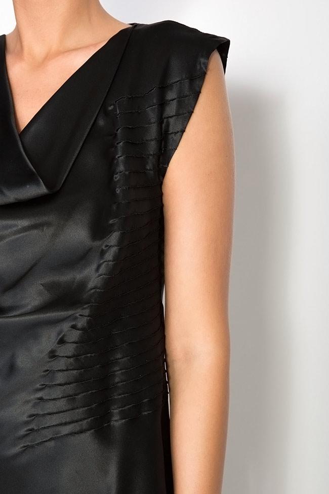 Bluza din matase cu drapaje Grigori Ciliani imagine 3