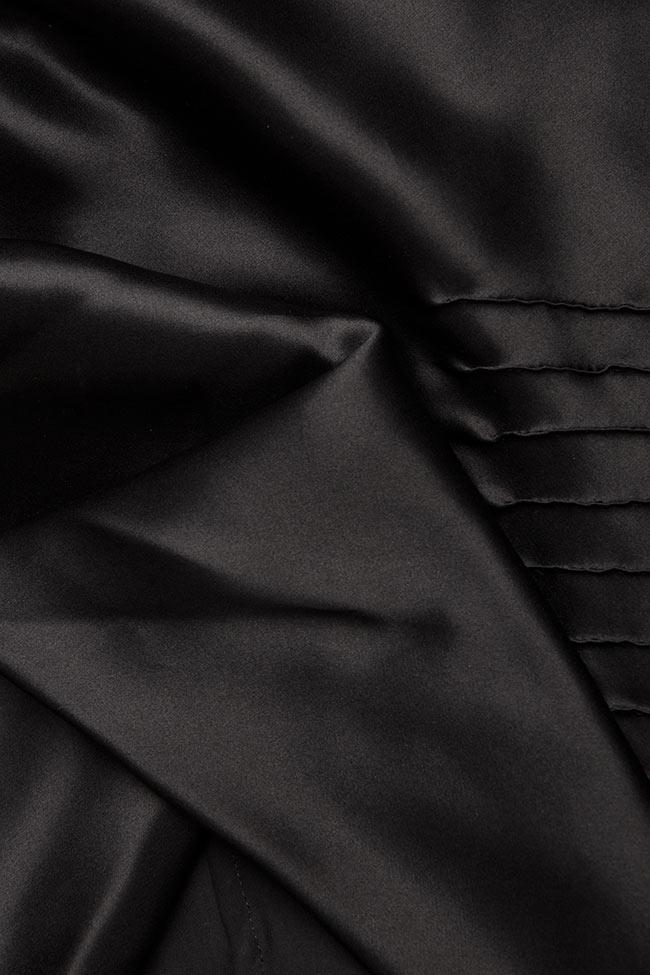 Bluza din matase cu drapaje Grigori Ciliani imagine 4
