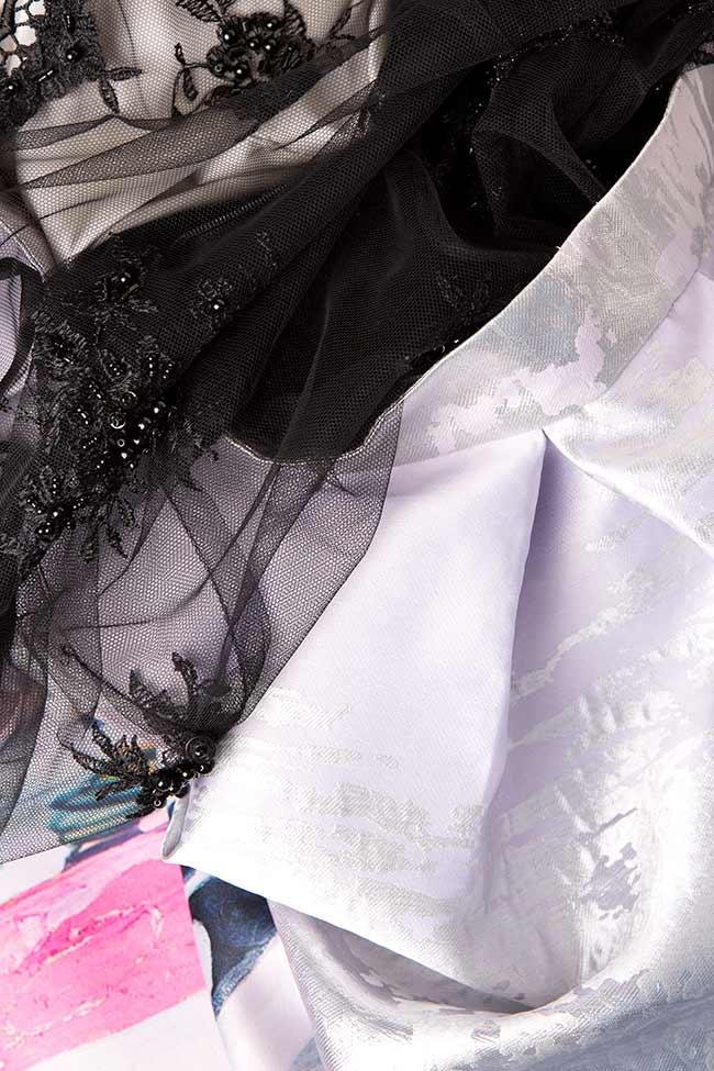 Rochie maxi din broderie manuala si tafta Roxanne Elena Perseil imagine 3
