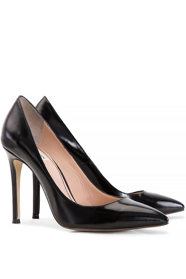 Pantofi tip stiletto din piele Alina Petcan imagine 1