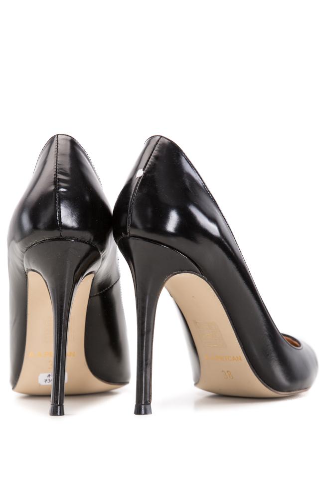 Pantofi tip stiletto din piele Alina Petcan imagine 2