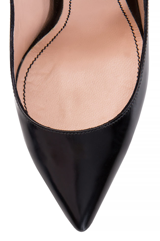 Pantofi tip stiletto din piele Alina Petcan imagine 3