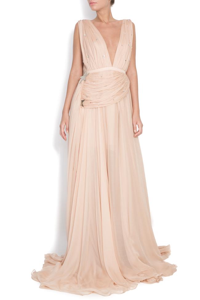 Embellished silk gown Manuri image 0