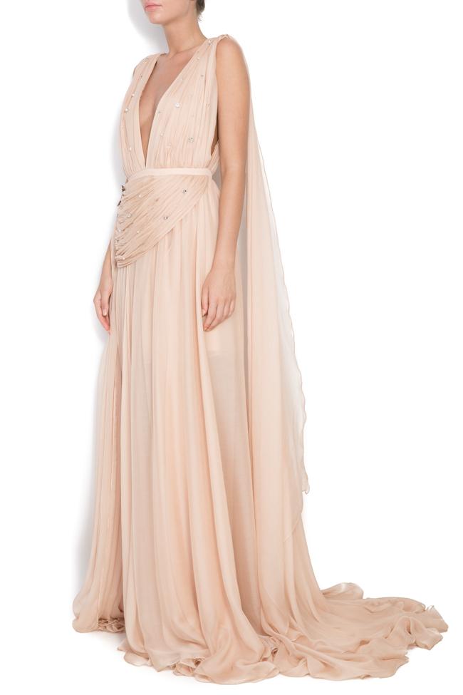 Embellished silk gown Manuri image 1