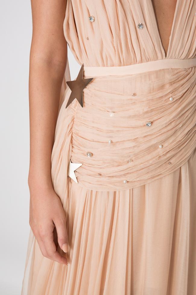 Embellished silk gown Manuri image 3