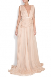 Manuri Embellished silk gown