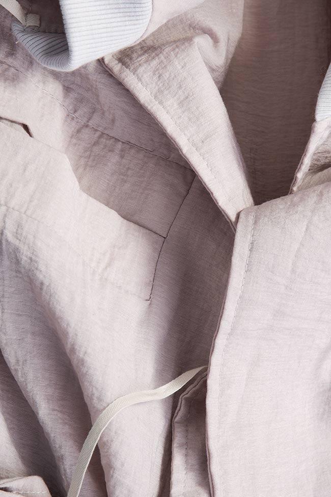 Camasa supradimensionata din voal Robe Studio Cabal imagine 4