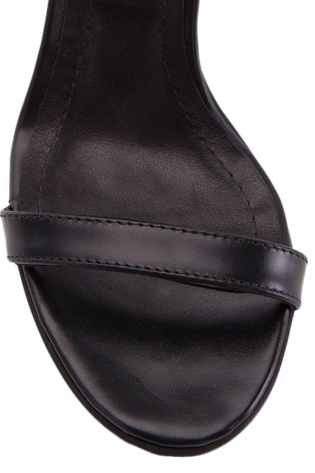 Sandale din piele naturala Verogia imagine 3