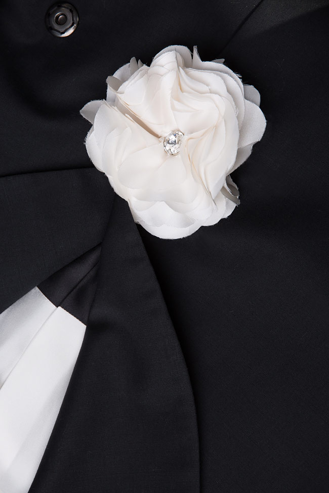 Sacou din lana Josephine Manuri imagine 5