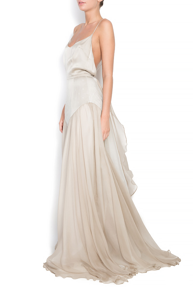 Bella silk gown Manuri image 1