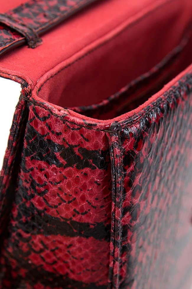 Geanta din piele de piton Laura Olaru imagine 3