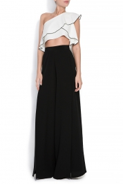 Izabela Mandoiu Silk wide-leg pants