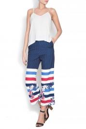 LaRochelle Printed crepe culottes