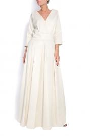 Dorin Negrau Brocade and silk maxi dress