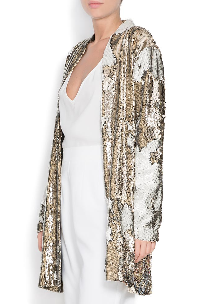 Golden and silver sequined jacket Shakara image 1