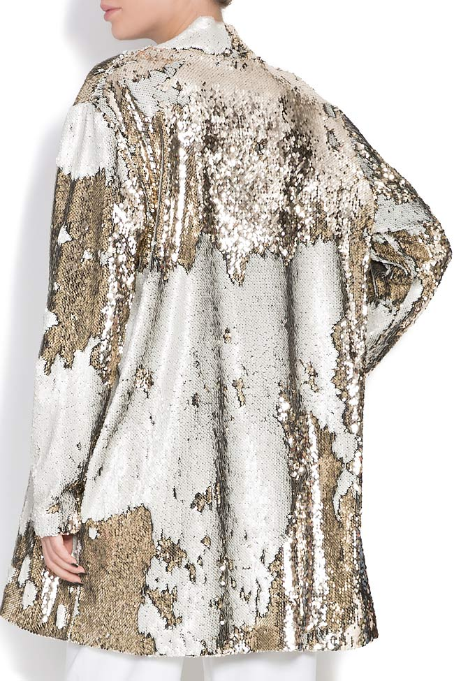 Golden and silver sequined jacket Shakara image 2