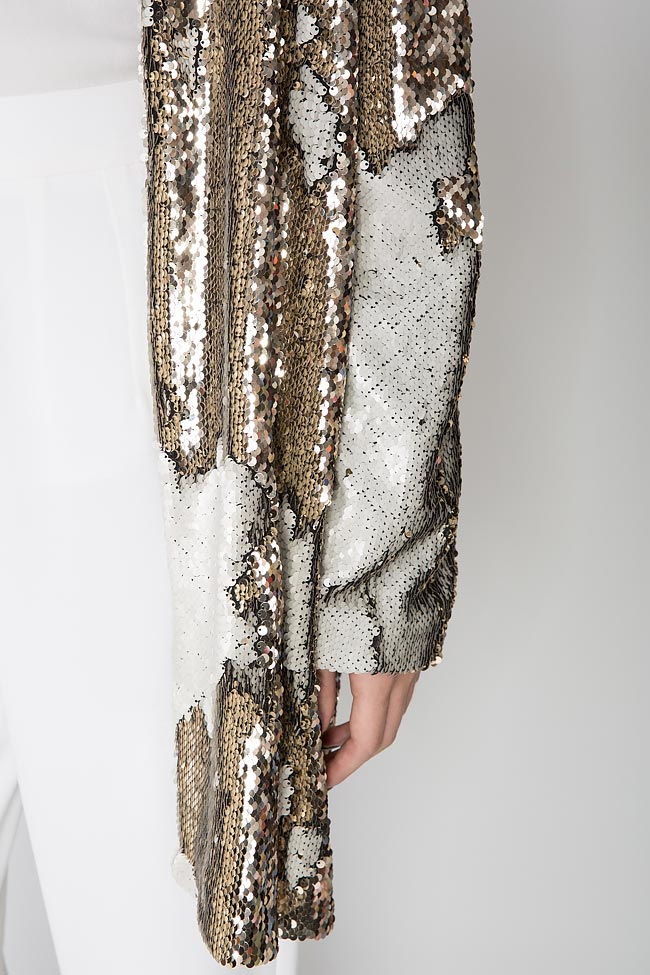 Golden and silver sequined jacket Shakara image 3