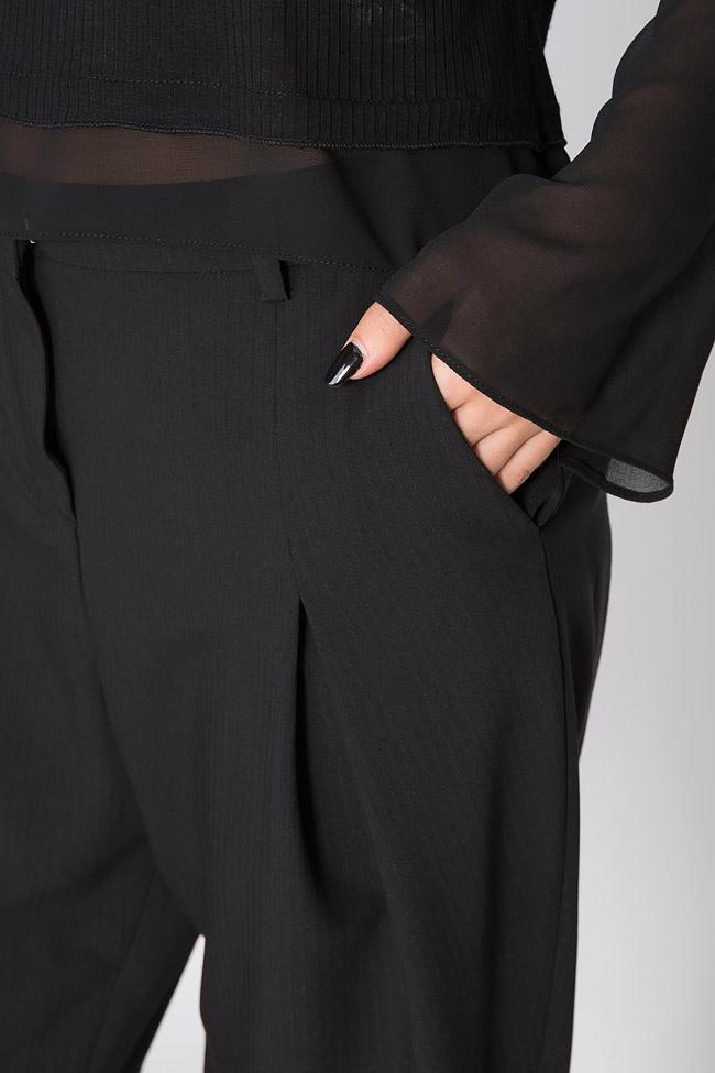 Pantaloni din crep Lova Shakara imagine 3