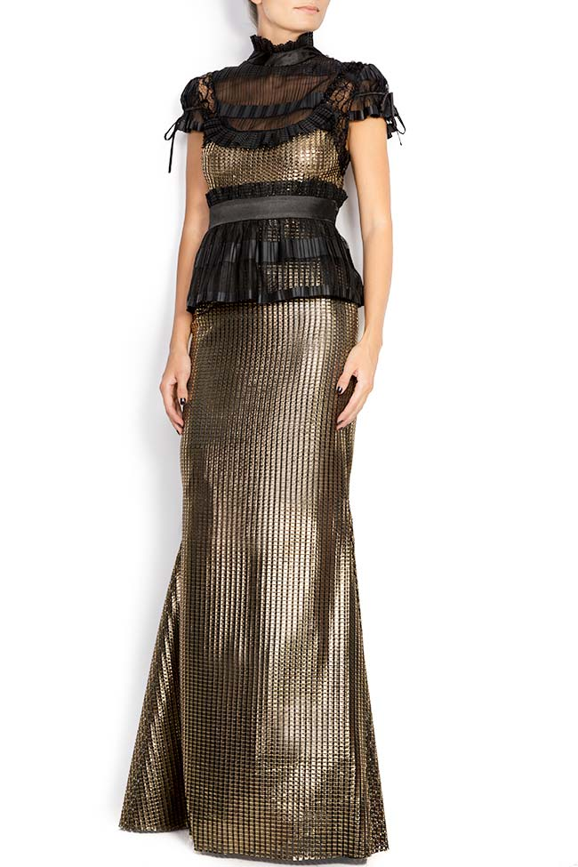 Amour silk-blend lamé maxi dress Amour Elena Perseil image 0