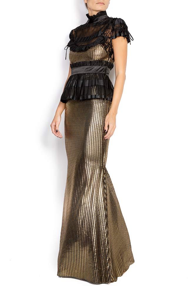 Amour silk-blend lamé maxi dress Amour Elena Perseil image 1