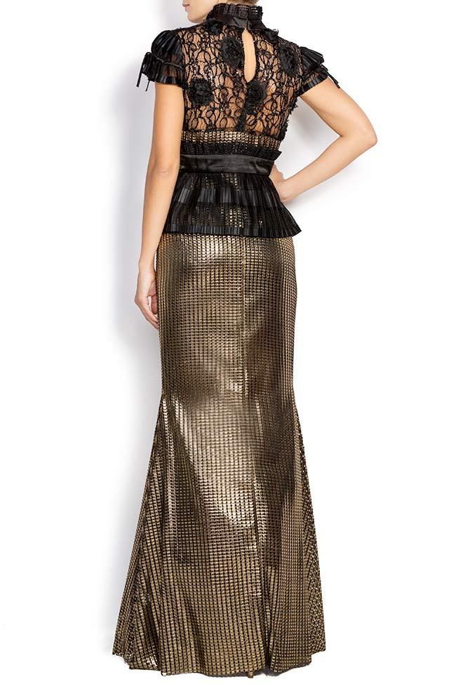 Amour silk-blend lamé maxi dress Amour Elena Perseil image 2
