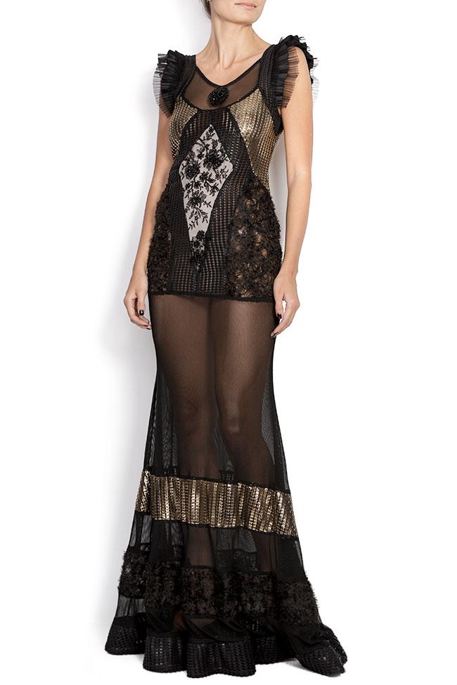 Karla mesh-paneled maxi dress Elena Perseil image 0