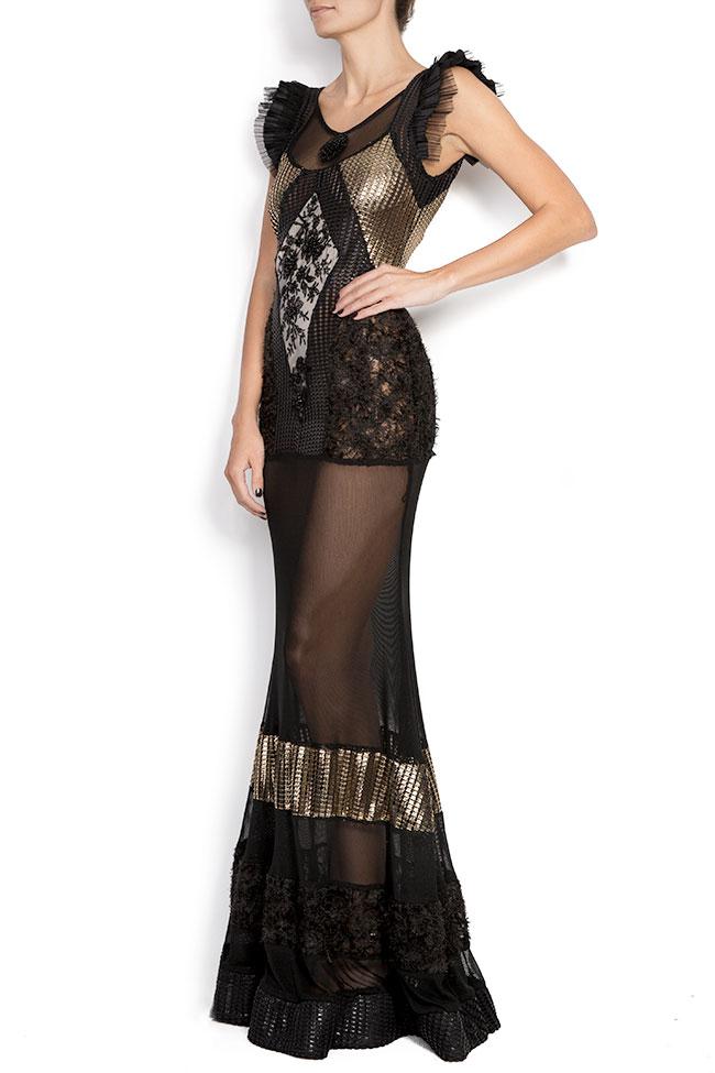 Karla mesh-paneled maxi dress Elena Perseil image 1
