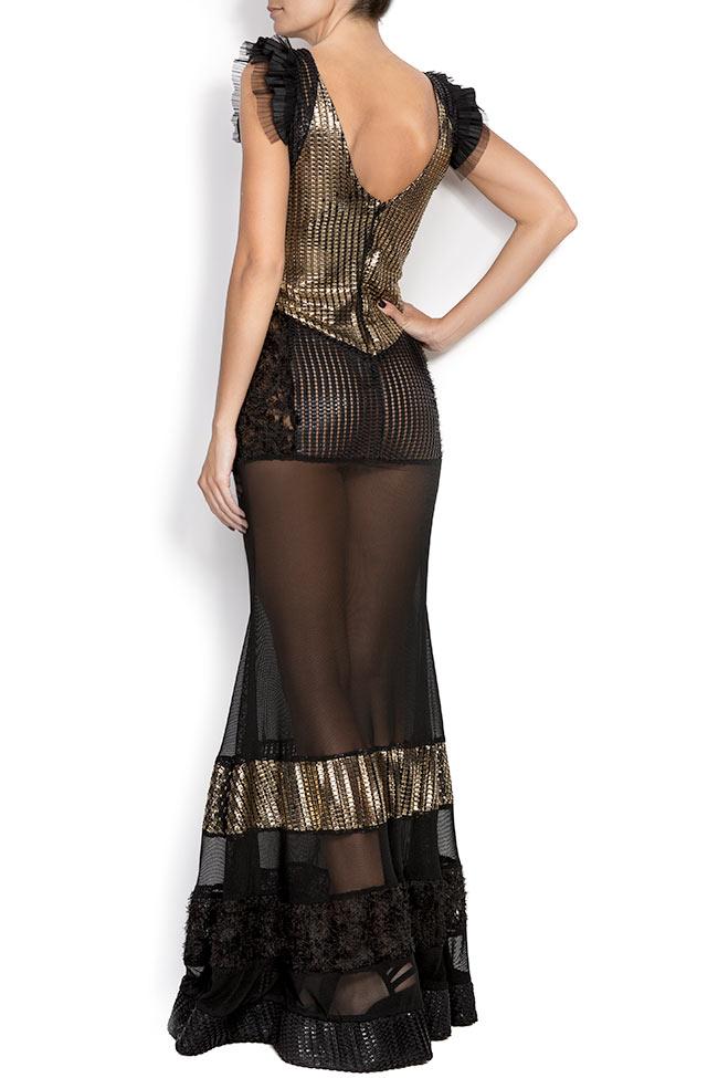 Karla mesh-paneled maxi dress Elena Perseil image 2