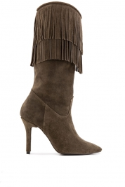 Ana Kaloni Fringed suede boots
