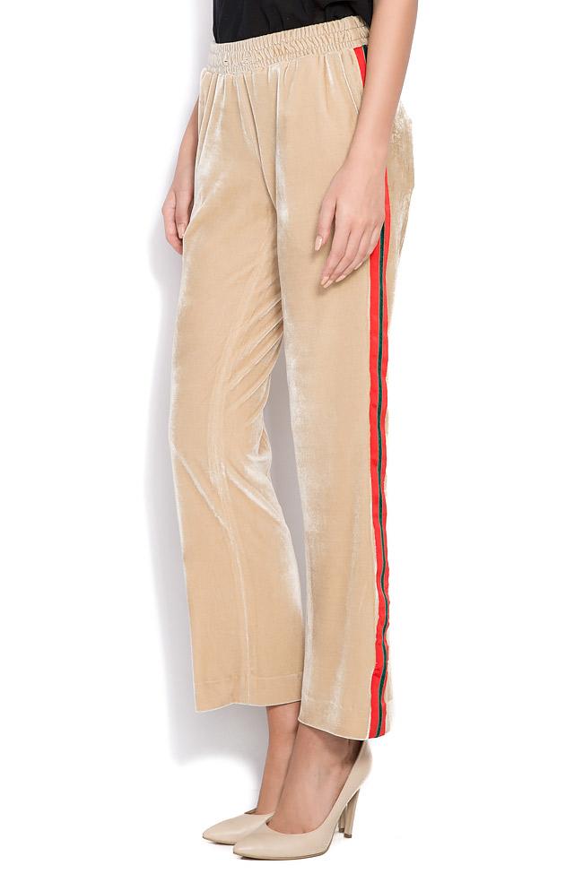 Kay striped velvet wide-leg pants Shakara image 1