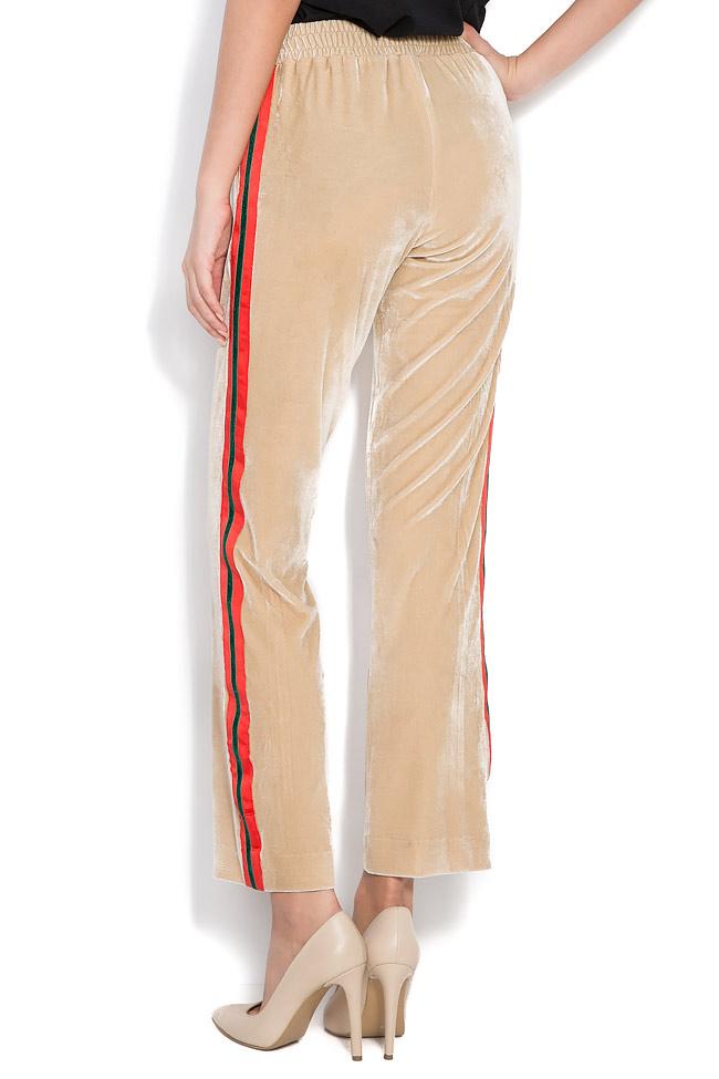 Kay striped velvet wide-leg pants Shakara image 2