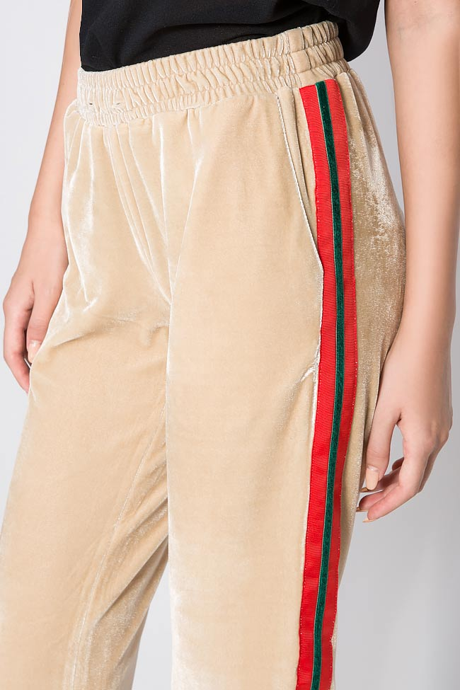 Kay striped velvet wide-leg pants Shakara image 3