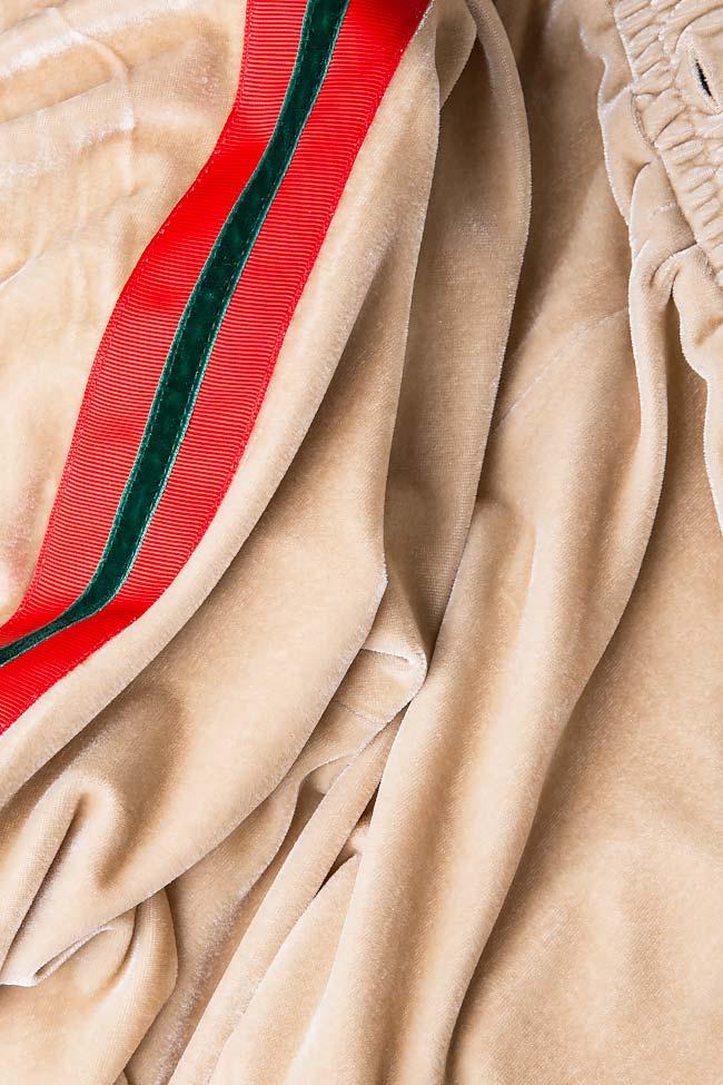 Kay striped velvet wide-leg pants Shakara image 4