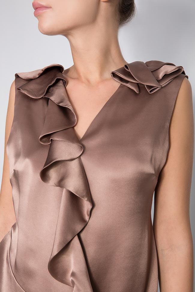Ruffled silk top Grigori Ciliani image 3