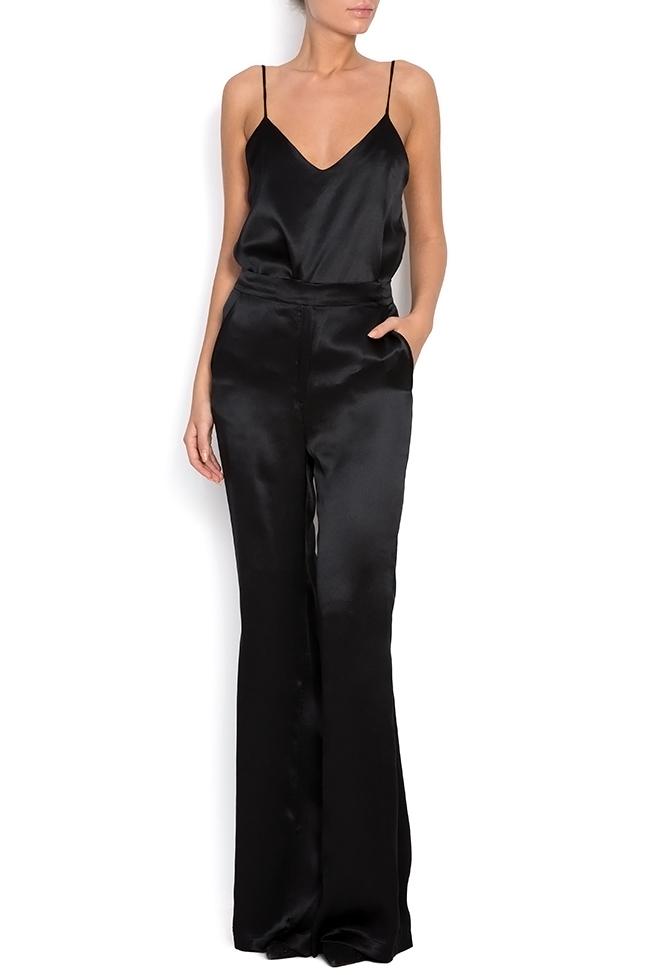 Silk-satin wide-leg pants Aureliana image 0