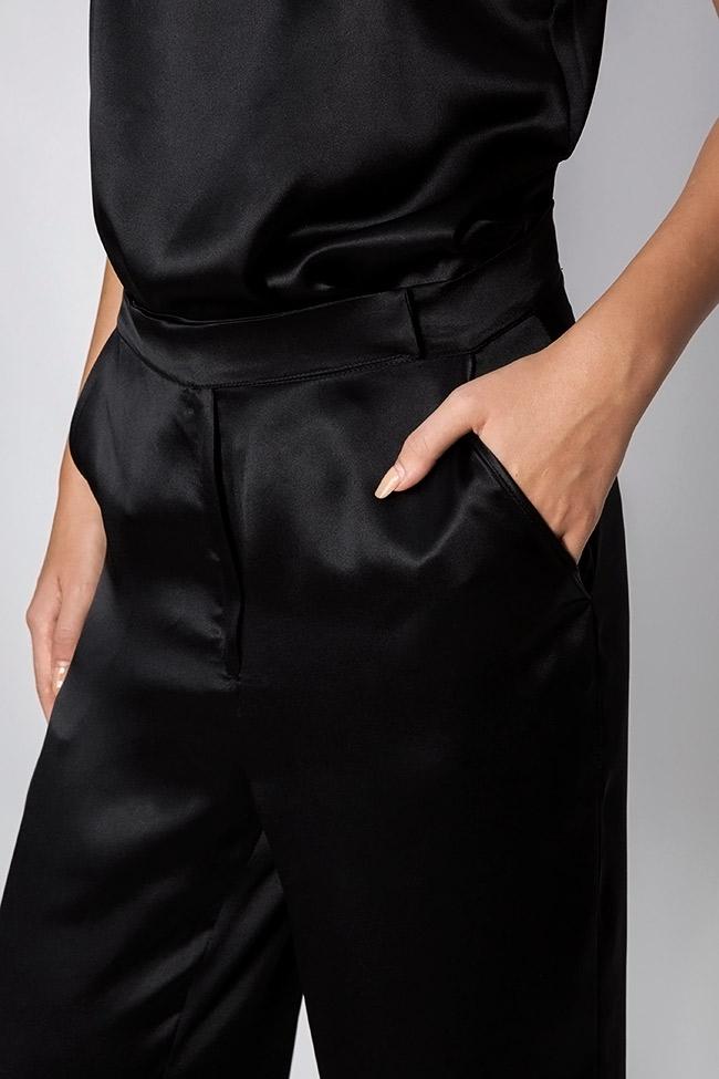 Silk-satin wide-leg pants Aureliana image 3